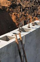 Precast bridge abutment panel