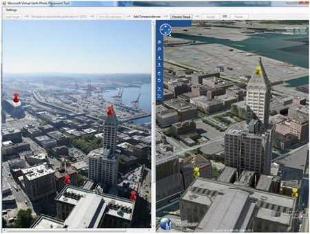 3d Geocoding of an image in Microsoft Virtual Earth