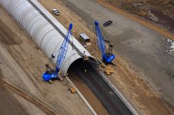US 395 CONTECH BEBO structure in Spokane, Washington