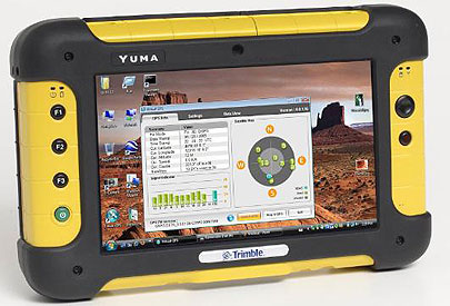 Trimble Yuma rugged tablet PC, front view