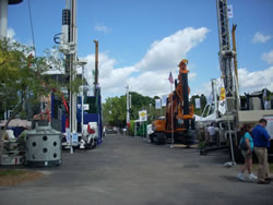 Drilling equipment at the 2009 IFCEE