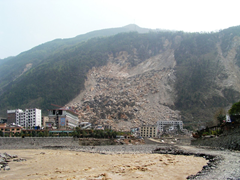 Earthquake induced landslide from May 2008 Sichuan Province earthquake