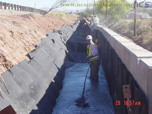 CIP wall with LCF backfill from SR-90 in Sierra Vista, Arizona. Photo courtesy of NCS Consultants, LLC.