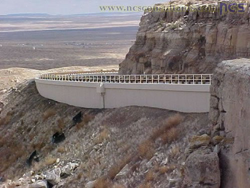 Completed SR 264: Hydrid Geofoam / Soil-Nail Wall. Photo by Bharat Kandel, ADOT - courtesy of NCS Consultants, LLC.