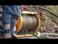 Video thumbnail of Rockfall protection installation