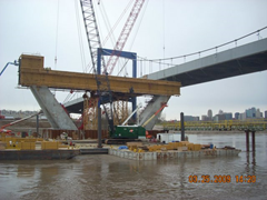kdICON bridge, center pylon