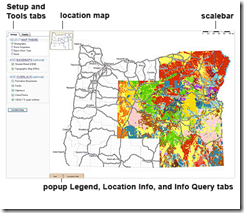 Oregon digital geologic map interface