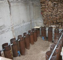 micropile_caissons_with_soil_plug