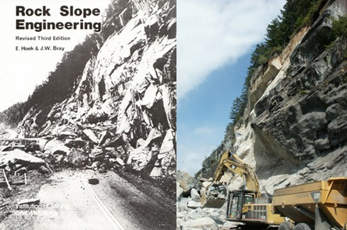 Composite image of 1965 and 2008 rockslide events on the Sea-to-Sky Highway in BC, Canada