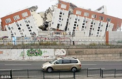 Chile Earthquake 2010 - Destroyed appartment building