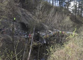 Landslide that derailed an Italian commuter train, killing 9 people