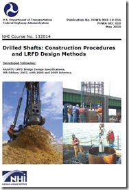 Cover of FHWA/NHI Manual 'Drilled Shafts: Construction Procedures and LRFD Design Methods' by Brown, Turner and