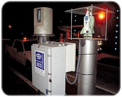 Laser scanner with data logging system and on-site computer. Also has total station for backup.