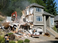 The Bazzaz family demolished what was left of their home in the summer of 2009 after a landslide slammed into the back of the property.