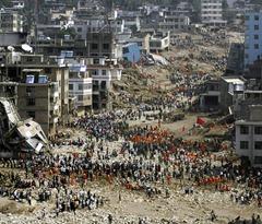 Landslide toll in Zhouqu county, Gansu Province, China