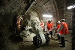 The tunnels of the Bure laboratory are still being carved out of the 150 million-year-old rock.