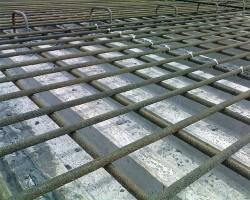 Basalt-fiber reinforced polymer or BFRP rebar used on a bridge in Northern Ireland