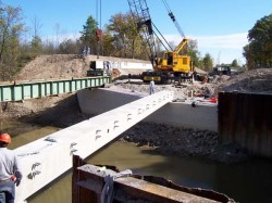 Geosynthetic reinforced soil (GRS) bridge system, Defiance County, Ohio