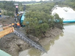 Crane topples in New Zealand
