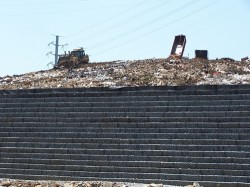 Donzi land fill in Atlanta area was expanded up using Strata geogrids