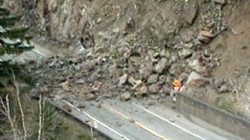 Landslide that closed Trans-Canada Highway