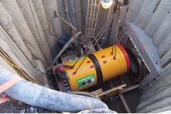 Micro-tunneling equipment for MWRA in Boston