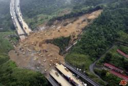 Taiwan Freeway Number 3 Landslide in April of 2010