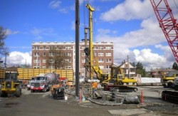 DBM Contractors working on the Capital Hill Sound Transit Station in Seattle