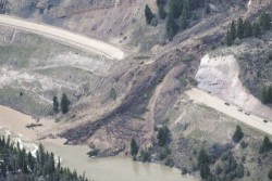 Landslide near Jackson Hole, Wyoming