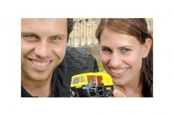 Andy and Laura and their Rickshaw