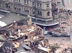 Liquefaction damage in Christchurch, New Zealand
