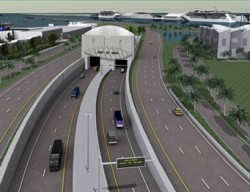 Port of Miami tunnel project rendering