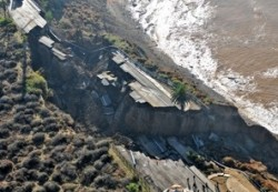 California coastal bluff landslide