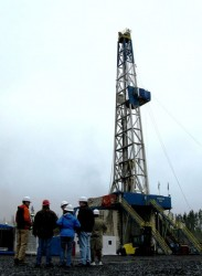 Drill rig at the Newberry Geothermal Project site