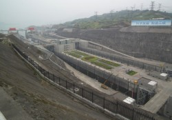 Ship locks at the Three Gorges Dam in China