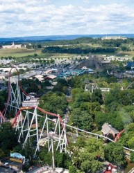 Nicholson designed and constructed micropile foundations for Hershey Park's Storm Runner rollercoaster