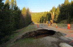 Sinkhole repair in Colorado on US 24 by Hayward Baker