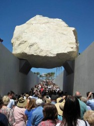 Levitated Mass sculpture by Michael Heizer at the LACMA