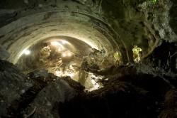 AASHTO Faces of Transportation 2012 Grand Price Winner - Caldecott Fourth Bore Tunnel Breakthrough by Metropolitan Transportation Commission Photographer Karl Nielsen
