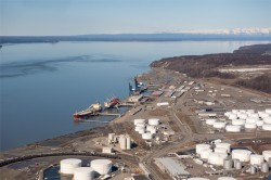 Port of Anchorage has vulnerability to liquefaction in an earthquake says a CH2M Hill report