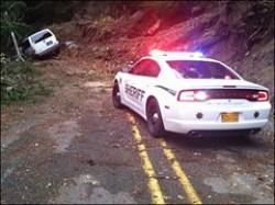 Oregon car thief's escape plot foiled by landslide