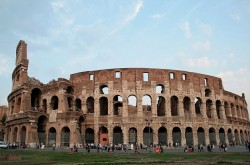 Western side of the Colosseum or Flavian amphitheatre, 70/72 - 80 DC in Rome. By Jean-Pol GRANDMONT