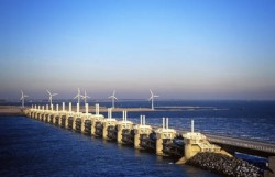 Eastern Scheldt Storm Surge Barrier in the Netherlands