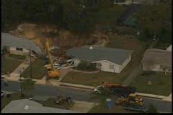 Sinkhole in Dunedin, Florida swallowed two houses.