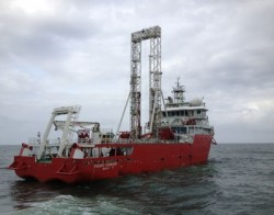 Fugro Voyager geotechnical vessel can operate in water over 9,000 feet deep