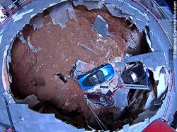 Birds-eye view of Corvette Sinkhole