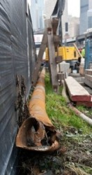 Section of steel well casing that STP alleges caused damage to Bertha