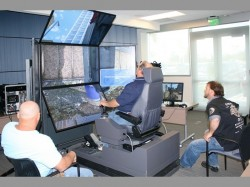 Liebherr's foundation drill rig equipment simulator in action