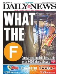 Hollow stem auger strikes NY MTA F Train on October 30, 2014