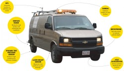 High-tech pothole-seeking van from Northeastern University